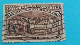 ETATS-UNIS - U.S.A. - Timbre 1893 : Christophe COLOMB Et La Reine Isabelle De Castille - Used Stamps