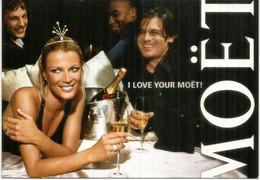 I Love Your Moët ! . Happy Valentine's Day.  Special Postcard From Belgium - Dia De Los Amorados