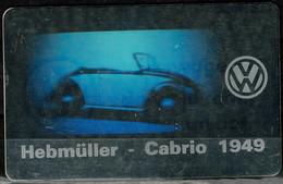 GERMANY 1992 PFONECARD HOLOGRAM HEBMÜLLER-CABRIO 1949 6 DM MINT VF!! - Cars
