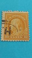 ETATS-UNIS - U.S.A. - Timbre 1912 : Sciences - Portrait De Benjamin FRANKLIN - Used Stamps