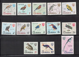 GAMBIA Scott # 215-27 MH & MNH - Set Of Birds On Stamps - Gambia (...-1964)
