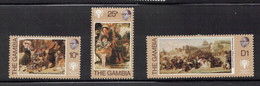 GAMBIA Scott # 391-3 MH - Paintings On Stamps - Gambia (...-1964)