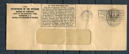 USA / 1924 / Brief Ex Department Of The Interior Washington (3766) - 1921-40