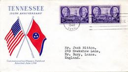 USA. N°493 De 1946 Sur Enveloppe 1er Jour. Tennessee. - 1941-1950
