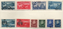 Rumänien 1947/48 Siehe Bild/Beschreibung 10 Marken Gestempelt; Romania Used - Gebraucht