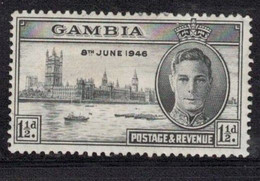 GAMBIA Scott # 144 MH - KGVI Peace Issue - Gambia (...-1964)