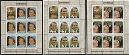 Cook Islands 1973 Royal Wedding Princess Anne And Mark Phillips, Mi 382-384  Minisheets MNH(**) - Cookeilanden