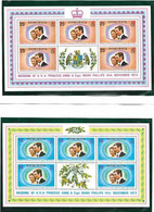 Dominica 973 Royal Wedding Princess Anne And Mark Phillips, Mi 379-380 Minisheets MNH(**) - Dominica (...-1978)