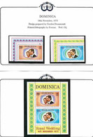 Dominica 973 Royal Wedding Princess Anne And Mark Phillips, Mi 379-380 And Bloc 21 MNH(**) - Dominica (...-1978)