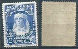 SPANIEN ESPAGNE SPAIN ESPAÑA 1927 RED CROSS CORONATION 3 WITHSURCHARGE 2 CENT MNH ED 373 YT 313 MI 336 SG 430 SC B32 - Unused Stamps