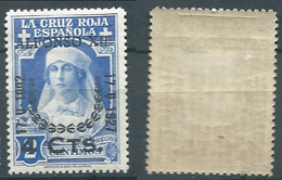 SPANIEN ESPAGNE SPAIN ESPAÑA 1927 RED CROSS CORONATION 4 SURCHARGE 2 CENT MNH HINGED ED 373 YT 313 MI 336 SG 430 SC B32 - Unused Stamps