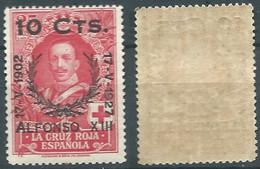 SPANIEN ESPAGNE SPAIN ESPAÑA 1927 RED CROSS CORONATION 25 SURCHARGE 10 CENT MNH ED 375 YT 315 MI 338 SG 432 SC B34 - Unused Stamps