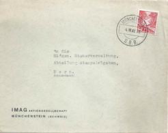 "Motiv Brief  ""IMAG, Münchenstein""  (Bahnstempel)           1938 - Covers & Documents"