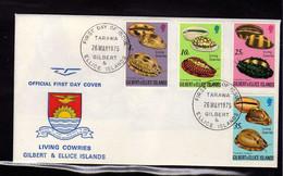 Gilbert Et Ellice (1975) - FDC  - Enveloppe -  Coquillages - - Gilbert & Ellice Islands (...-1979)