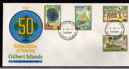 Gilbert (1977) - FDC  - Enveloppe -   Scoutisme - Gilbert & Ellice Islands (...-1979)