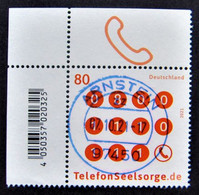 "Bund/BRD September 2021,Sondermarke ""Telefonseelsorge"", MiNr 3627, Ecke 1,, Gestempelt - Usati"