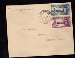 Gilbert Et Elice  (1946) -  FDC -  Enveloppe  -   Anniversaire De La Victoire - Gilbert & Ellice Islands (...-1979)