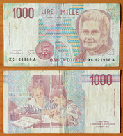 Italy 1000 Lire 1990 (1995) VF Replacement P-114a - 1000 Liras