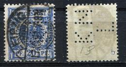 """D. Reich Michel-Nr. 48b Perfin """"KNL"""" Vollstempel - Geprüft - Oblitérés"""