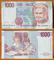 Italy 1000 Lire 1990 XF/aUNC P-114a - 1000 Liras