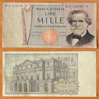 Italy 1000 Lire 1969 VF P-101a - 1000 Liras