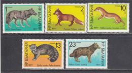 Bulgaria 1977 - Animals, Mi-Nr. 2597/601, MNH** - Ungebraucht
