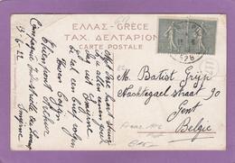 CARTE POSTALE DU SP 528 (SMYRNE) POUR GAND,BELGIQUE.1920. - Bolli Militari A Partire Dal 1940 (fuori Dal Periodo Di Guerra)