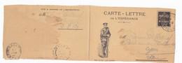 Carte Lettre En Franchise Militaire De L'espérance, Nos Alliés : Les Serbes - Lettere In Franchigia Militare
