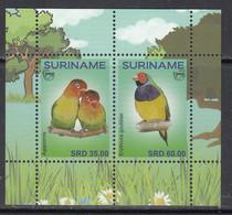 2018 Surinam Suriname Love Birds Oiseaux Souvenir Sheet  MNH - Surinam