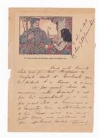 Carte Lettre En Franchise Militaire - Un Verre De Bon Vin D'Alsace Versé à Un Grand Ami - Lettere In Franchigia Militare