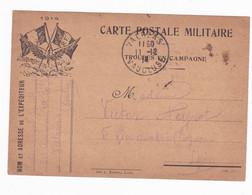 Carte En Franchise Militaire - 2 Drapeaux - 1914 - Aviation - Lettere In Franchigia Militare
