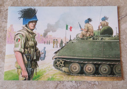 CPM Militaria Participation Italiana Alla Pacificazione Dell' Iraq Forze Italiana Di Pace - BERSAGLIERI - 2000 Scarpelli - Andere Oorlogen