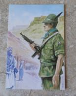"CPM Militaria Force Italiane In AFGANISTAN Opération "" Enduring Freedom "" Alpini Taurinense Illustrateur Scarpelli - Andere Oorlogen"
