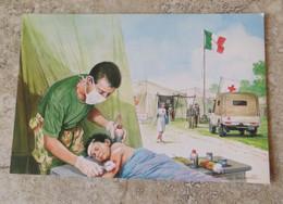 CPM Militaria Participation Italiana Alla Pacificazione Dell' Iraq Forze Italiana Di Pace - Croix Rouge  - Ill Scarpelli - Andere Oorlogen