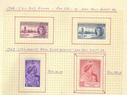 Gilbert  Et Elice  (1946-49) -   Victoire - Noces D'Argent George VI -   Neufs* - MLH - Gilbert & Ellice Islands (...-1979)