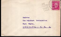 """Chile - 1934 - Lettre - Cachet Special """"Use Nitrato De Sodio Chile"""" - Envoyé En USA - Chile"""