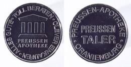 00580 GETTONE TOKEN JETON VENDING APOTHEKE PREUSSEN TALER ORANIENBURG - Ohne Zuordnung