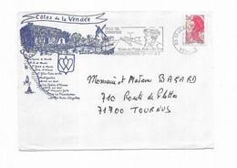 1983 France Cote De La Vendée Flamme Ville De Congres Saint Jean De Monts - Annullamenti Meccanici (pubblicitari)