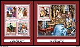 S. TOME & PRINCIPE 2017 - F. Kahlo, Handicapped Painter - YT 5845-8 + BF1061; CV=38 € [ST17404] - Handicaps