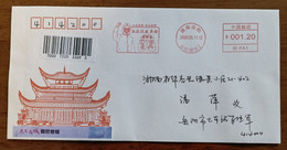 Saluting Heroes,CN 20 Yueyang Fight COVID-19 Novel Coronavirus Pneumonia Meter Franking Propaganda PMK Used On Cover - Disease