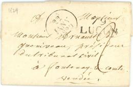 1829 Lettre De 79 Lucon Vers Fontenay Le Comte En Vendée - 1801-1848: Precursori XIX