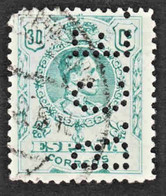Spain - Scott #303 Used - Perfin - Used Stamps