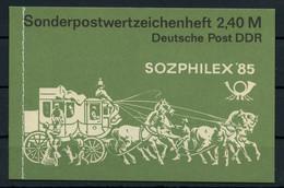 1985, DDR, MH 8, Cto - Markenheftchen