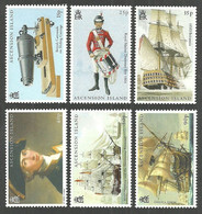 ASCENSION 2005 MILITARY LORD NELSON SHIPS BATTLE OF TRAFALGAR SET MNH - Ascension