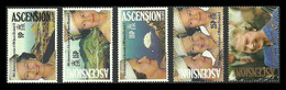 ASCENSION 1992 ROYALTY ROYAL ACCESSION SET MNH - Ascension