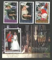 ASCENSION 2011 ROYALTY ROYAL WEDDING WILLIAM & KATE OMNIBUS SET & M/SHEET MNH - Ascension