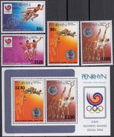 PENRHYN 1988 Olympic Games, Seoul, Set Of 4 & M/S MNH - Zomer 1988: Seoel