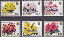 NIUE 1985 Flower Definitive Officials, Set Of 6 High Values MNH - Niue