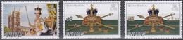 NIUE 1977 Silver Jubilee, Set Of 2 & $3.20 Surcharge MNH - Niue
