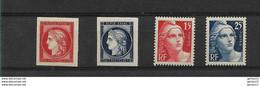 N° 830/833 **   NEUF SANS CHARNIERE      COTE  16 - Unused Stamps